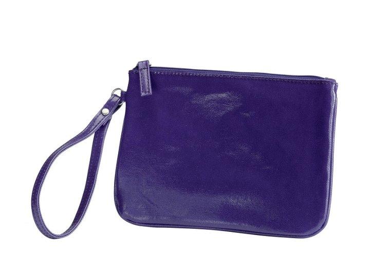 Cotton Canvas Wristlet, Purple