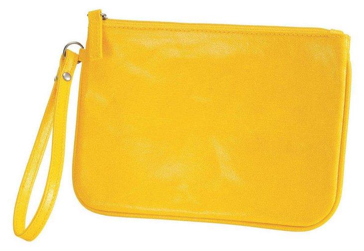 Cotton Canvas Wristlet, Yellow