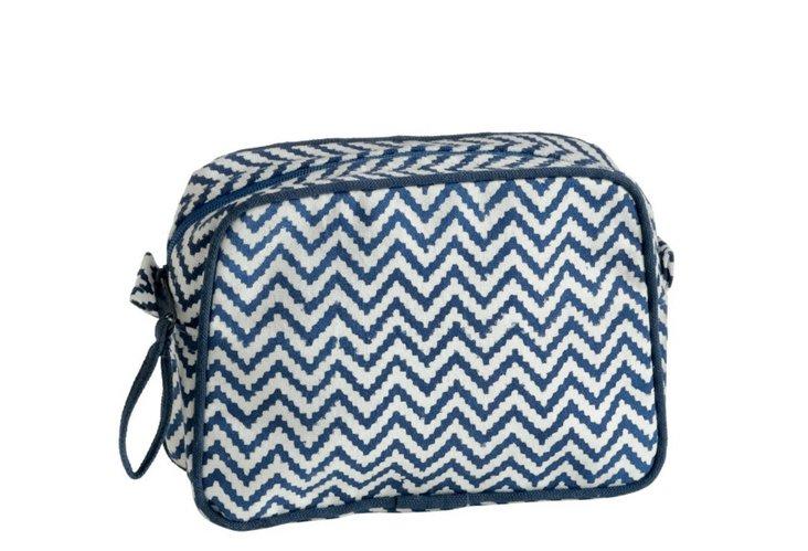 Small Cosmetic Bag, Indigo
