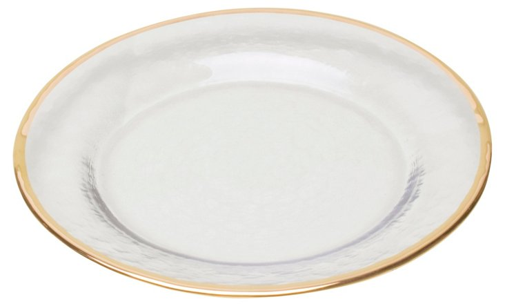 S/4 Imperial Rim Appetizer Plates, Gold
