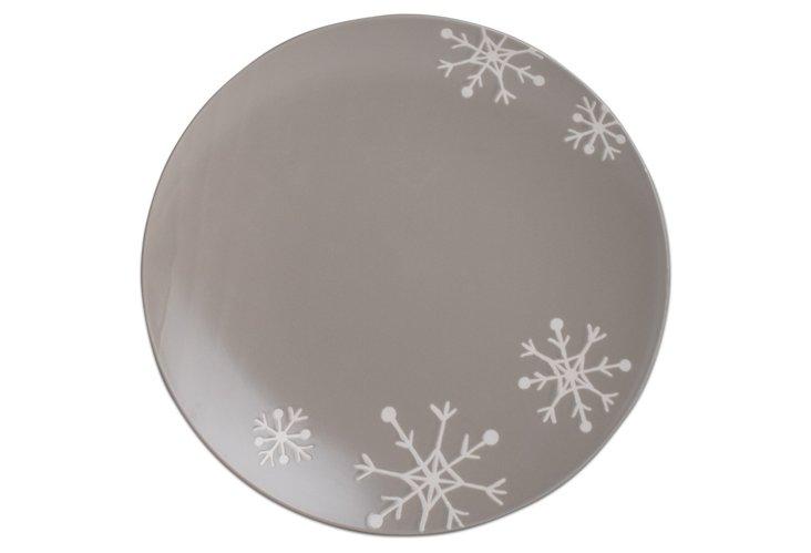 Snowflake Platter, Gray