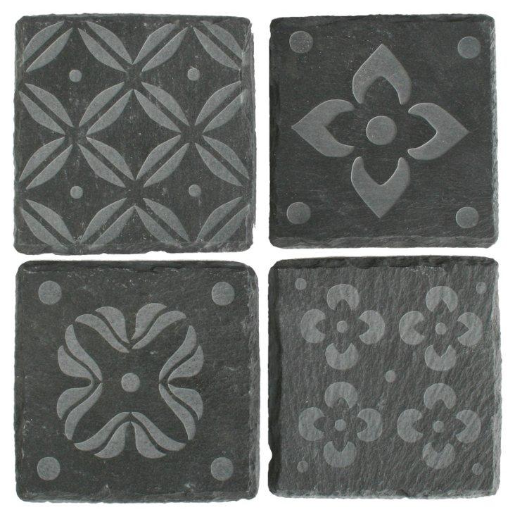 S/4 Java Slate Coasters