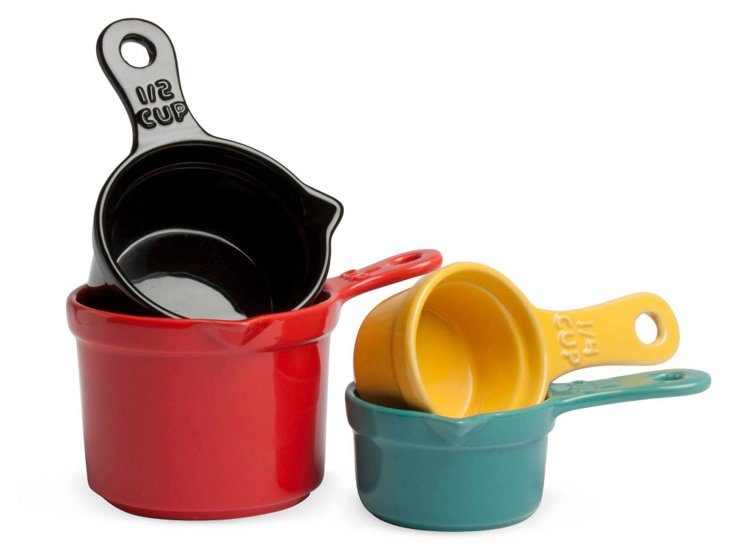 S/4 Assorted Colorful Measuring Cups