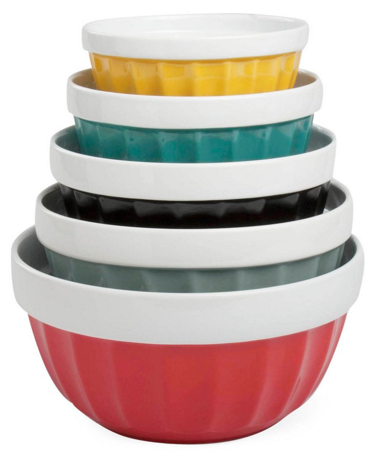 Asst of 5 Nested Mixing Bowls