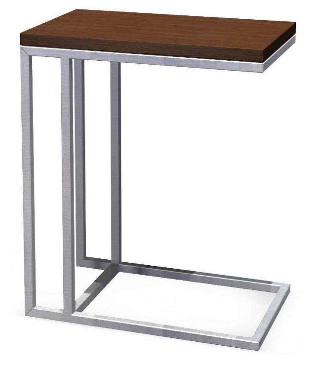 Turner Side Table, Espresso/Silver
