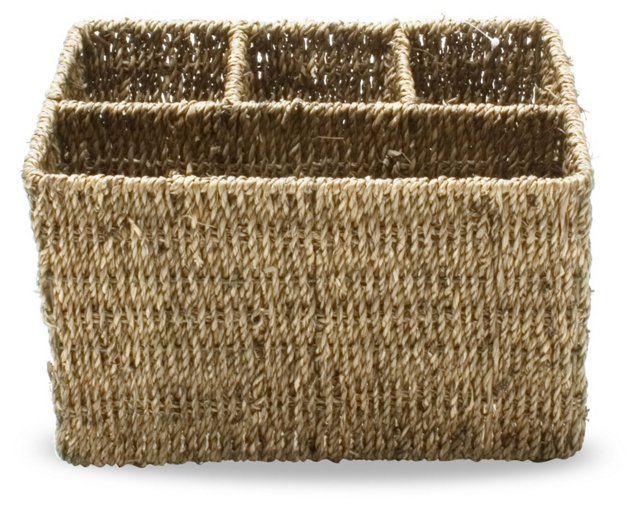 "11"" Sea-Grass Utensil Caddy, Natural"