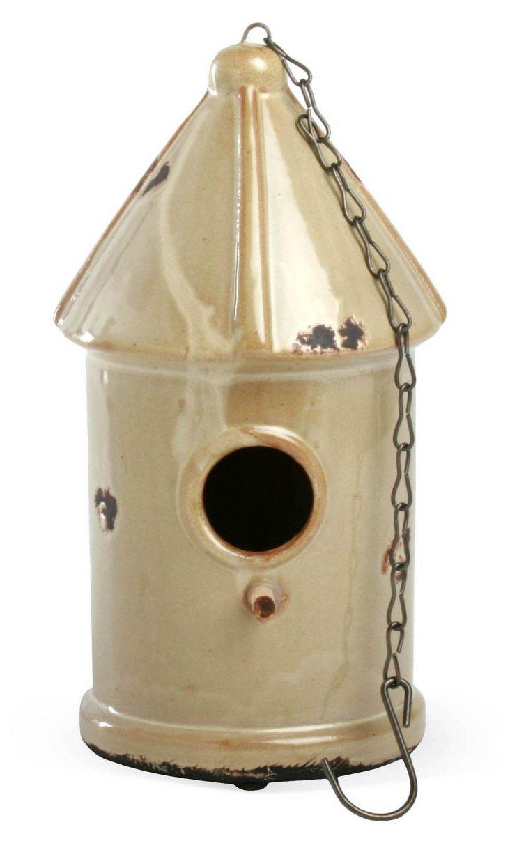 "11"" Birdhouse, Beige"