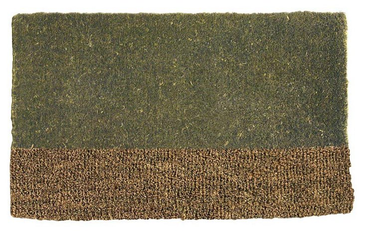 Two-Tone Coir Mat, Green
