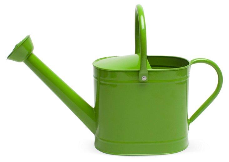 "7"" Garden Watering Can, Green"