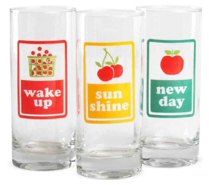S/6 Assorted Juice Glasses