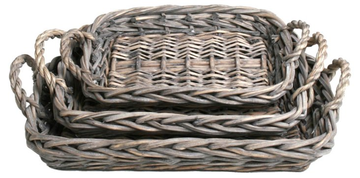 Asst. of 3 Willow Baskets