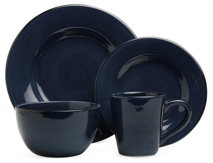 16-Pc Sonoma Dinnerware Set, Navy