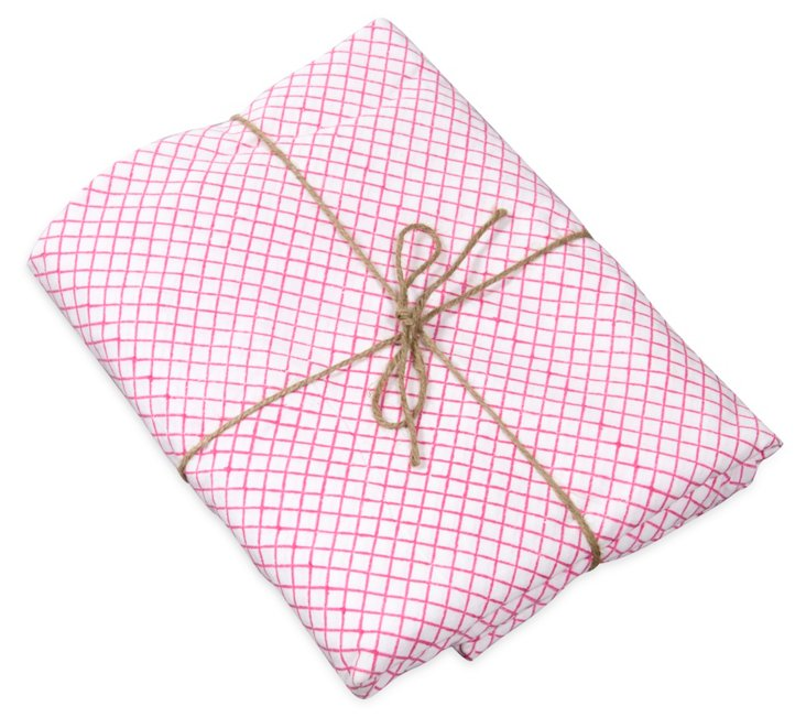 Queen Fitted Sheet, Pink