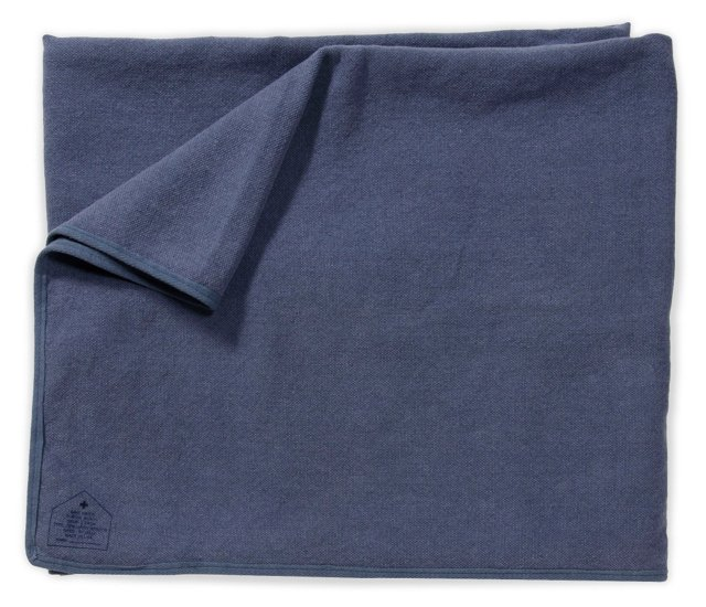 Save Khaki Beach Throw, Blue