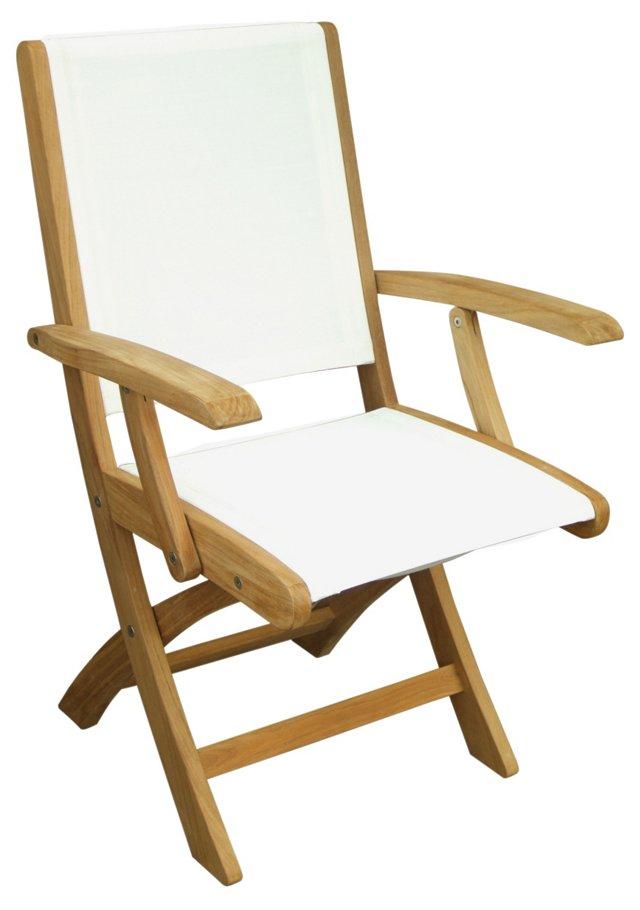 Riviera Folding Armchair, White
