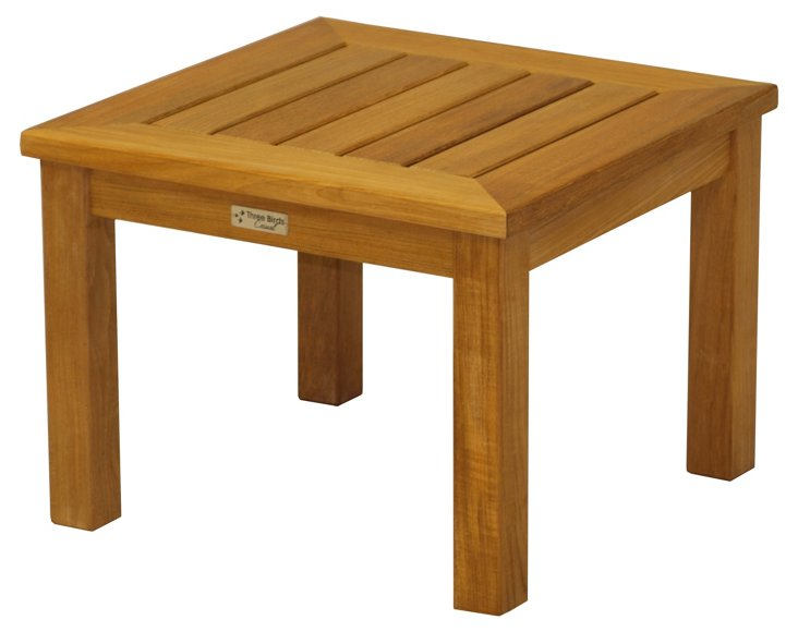Teak Low Square Side Table