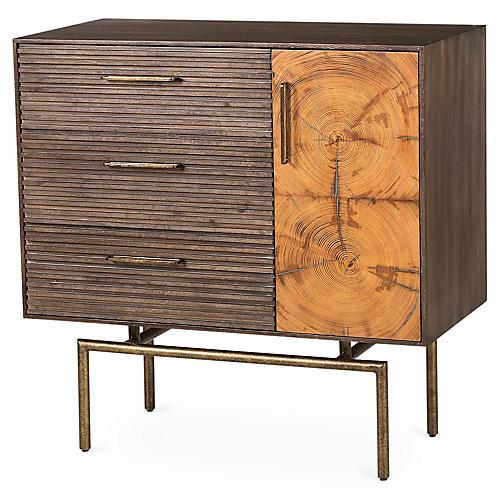 Stuart Cabinet, Brass