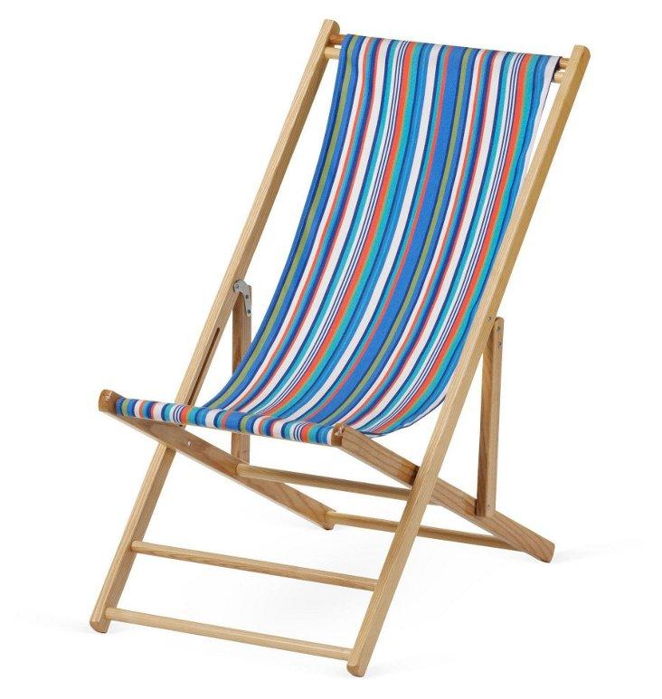 Cabana Deck Chair, Atlantic Blue Stripe