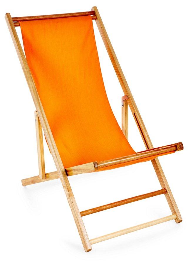Cabana Deck Chair, Tangerine