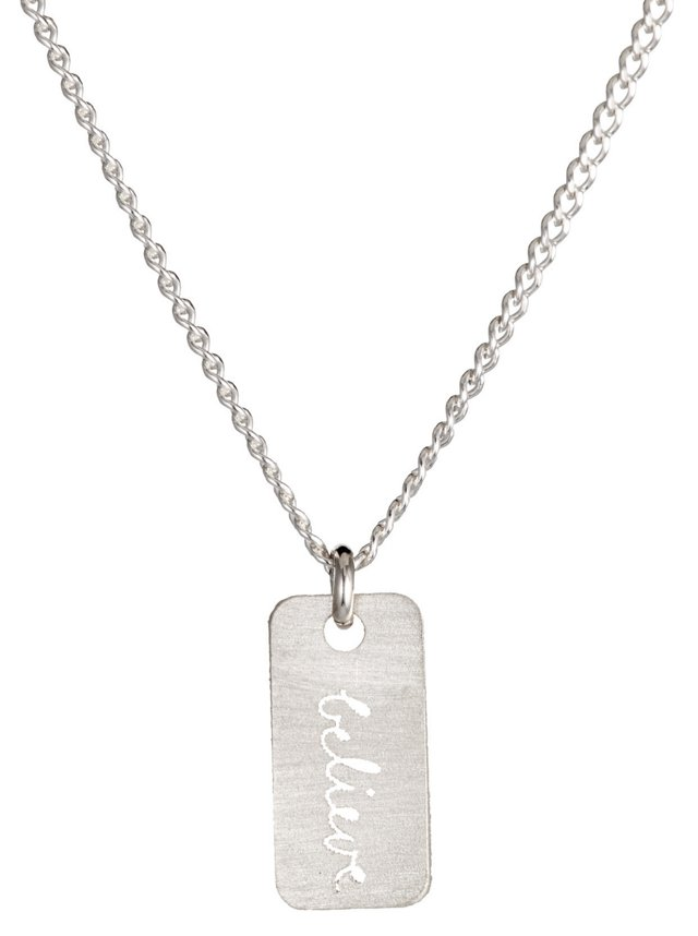 Sterling Silver 'Believe' Necklace