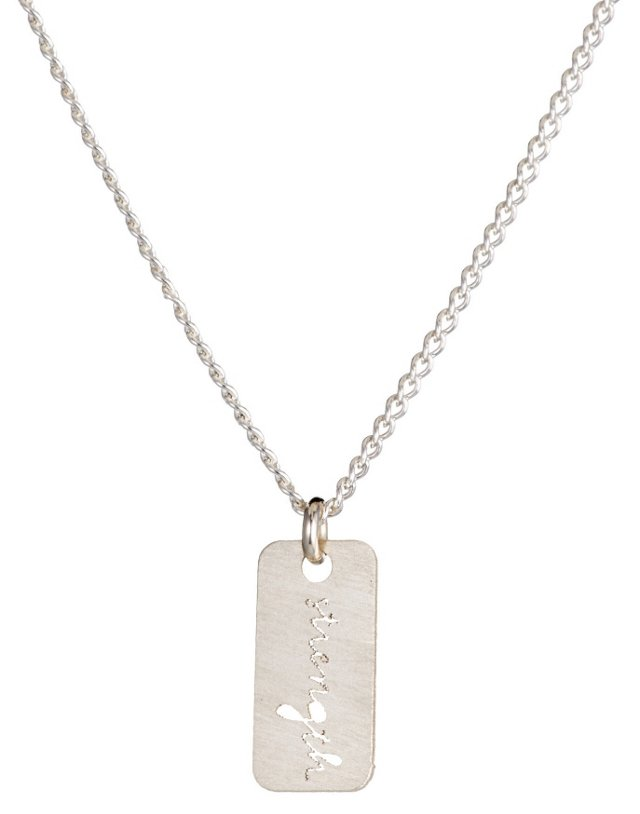 Sterling Silver 'Strength' Necklace