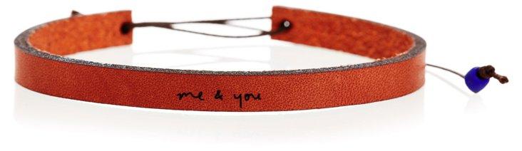 Me & You Adjustable Leather Bracelet