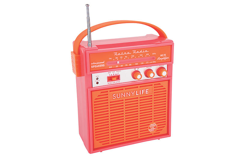 Retro Sounds Radio, Pink/Orange