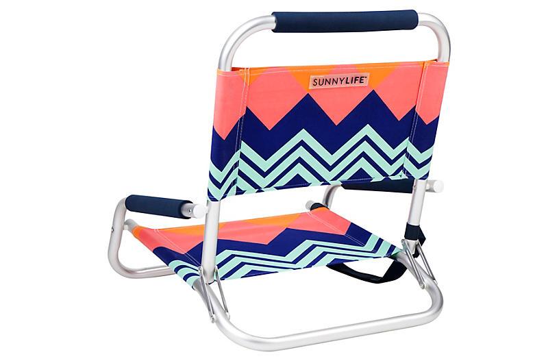 Rockingham Outdoor Beach Chair Aqua Outdoor Furniture