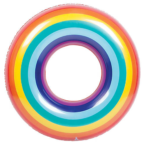Pool Ring Rainbow Float, Multi
