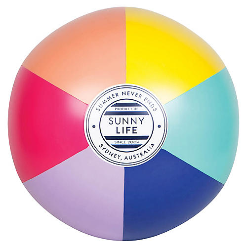 XL Inflatable Havana Beach Ball, Pink/Multi