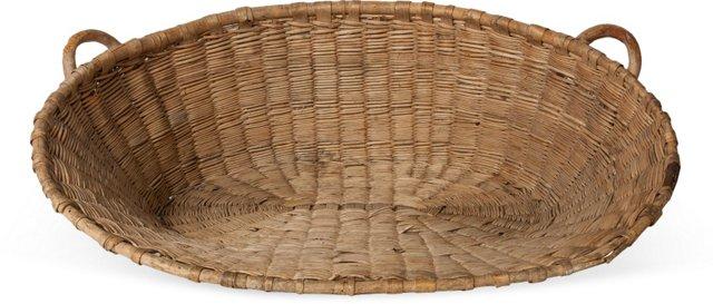 Fan-Shaped Wicker Basket