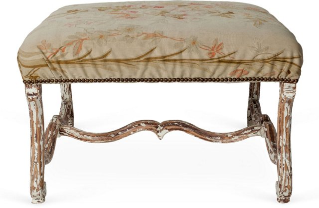Old Tapestry Ottoman