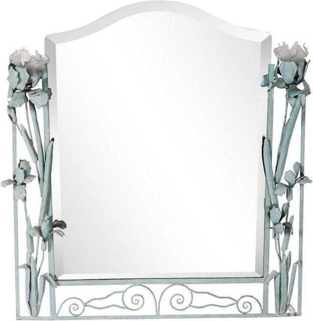 Iris-Style Art Deco Mirror