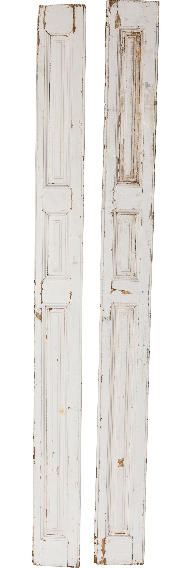 Vintage White Shutters, Pair
