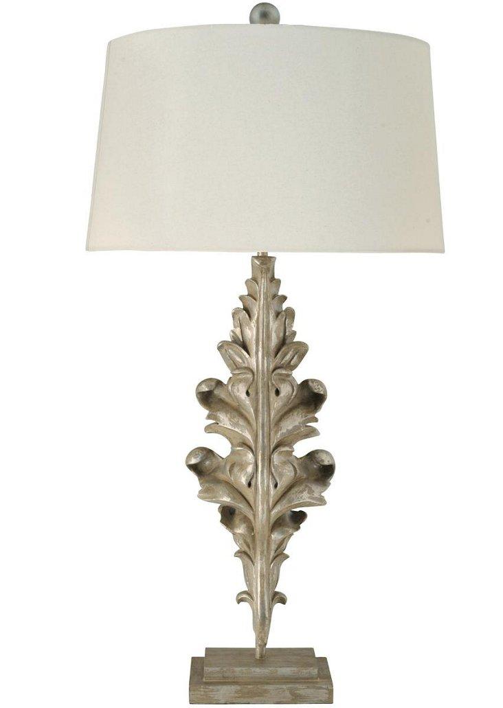 Laurel Leaf Table Lamp, Cream