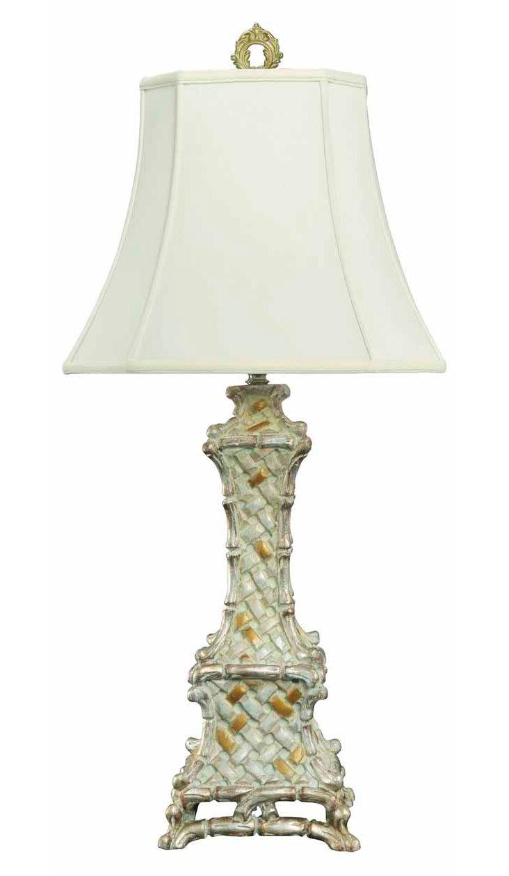 Bamboo Buffet Lamp, White