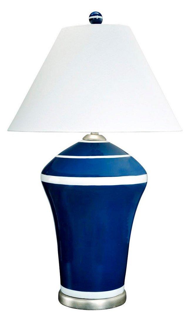 Nautica Table Lamp, Navy