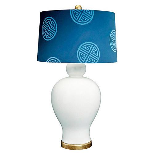 Payton Uni Table Lamp, Gold/Cream