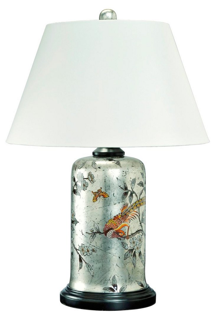 Silver Captiva Table Lamp