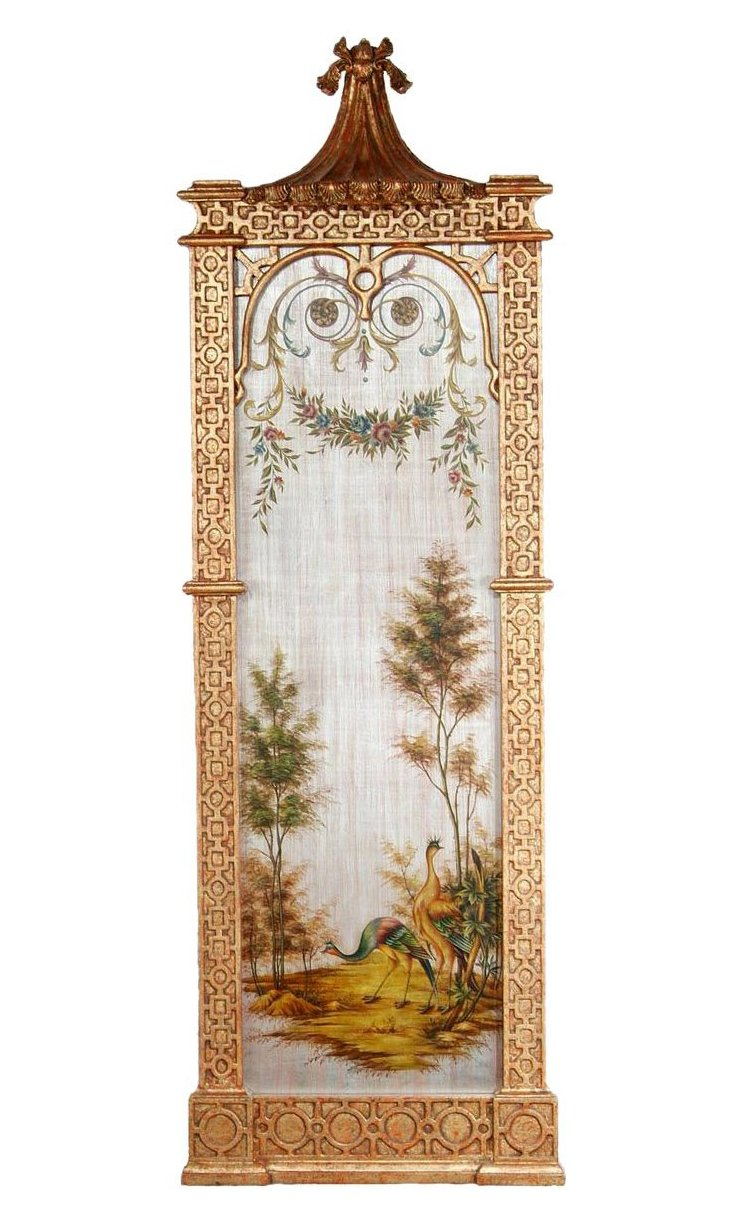 Exotic Peacock  Wall Panel, Right