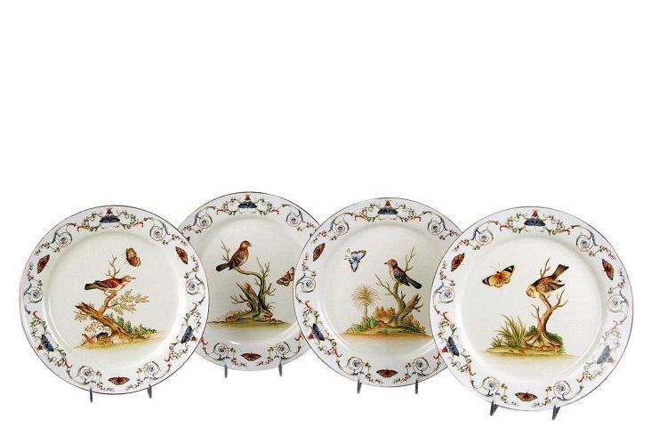 Porcelain Bird & Butterfly Plates Set