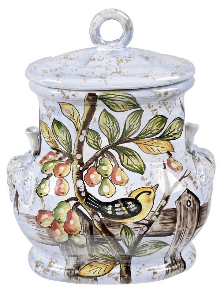 Italian Bird and Fruit Canister