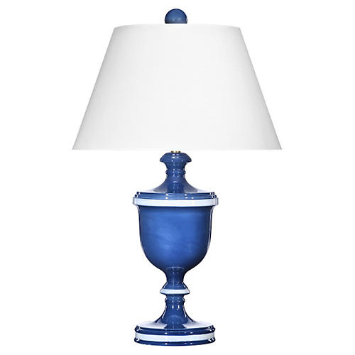 Monroe Table Lamp, Blue