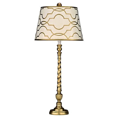 Fatima Buffet Table Lamp, Gold