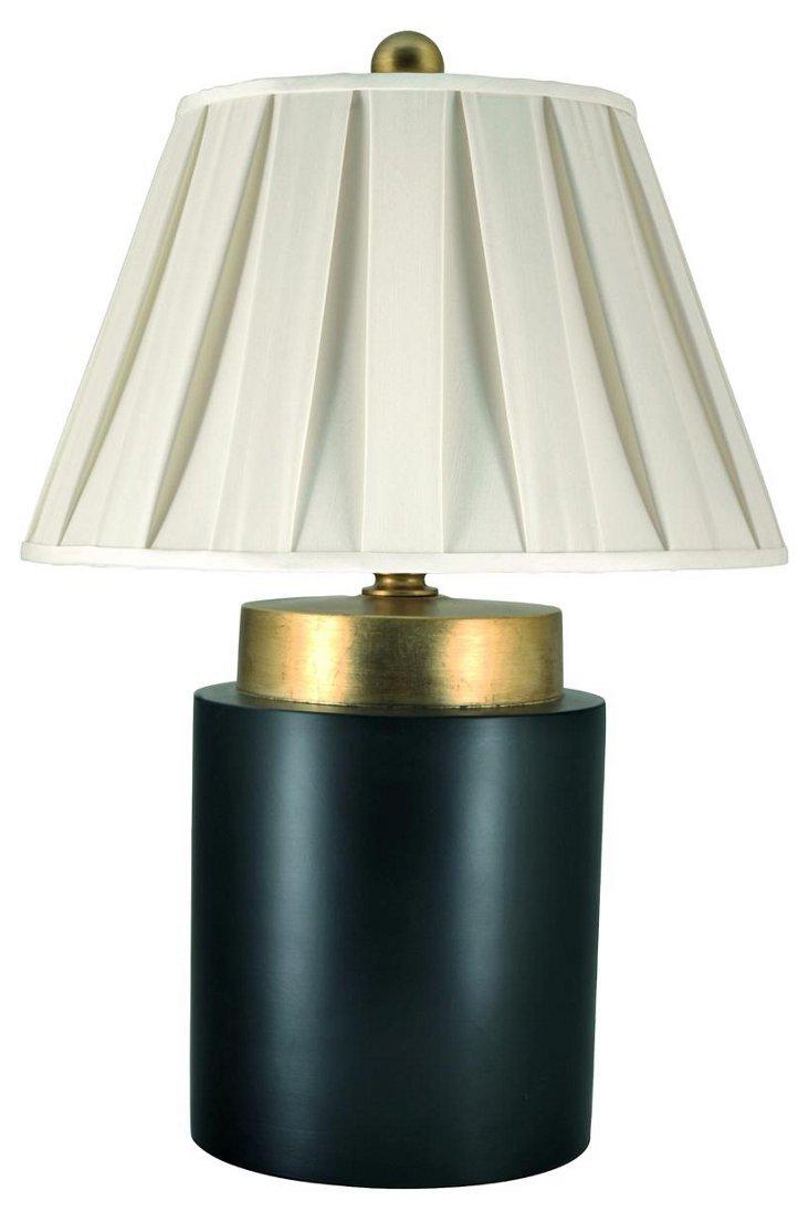 High Drama Table Lamp, Matte Black/Gold