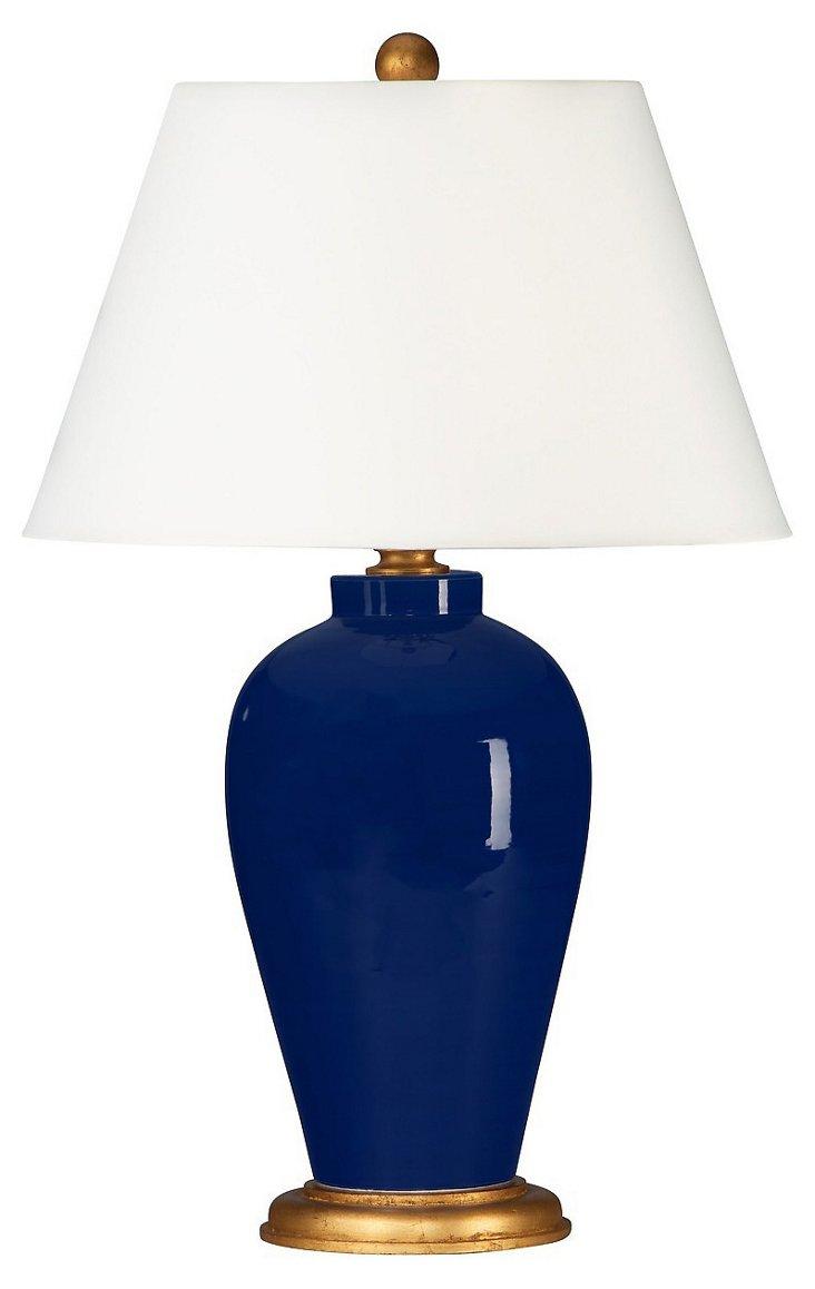 Blue Tango Table Lamp, Glazed Navy