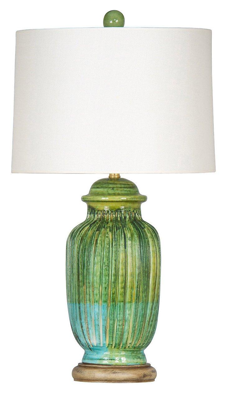 Bayside Table Lamp, Green