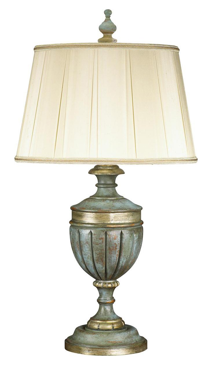 Aegean Coast Table Lamp, Silver Leaf