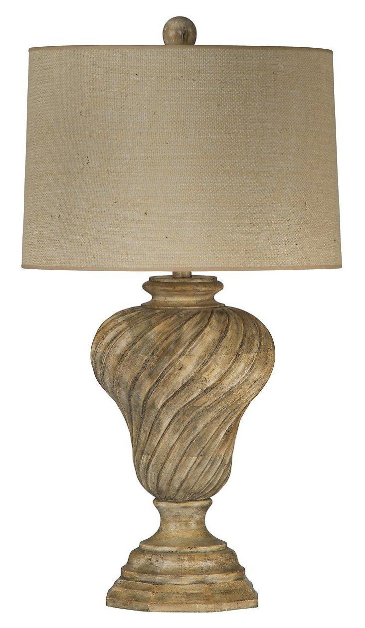 Acropolis Table Lamp, Blonde Wood