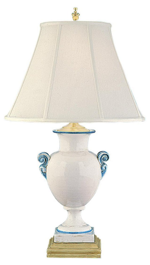 Santorini Harbor Table Lamp, Cream